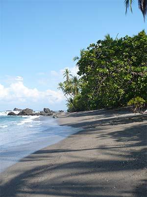 Paradis strand i Costa Rica