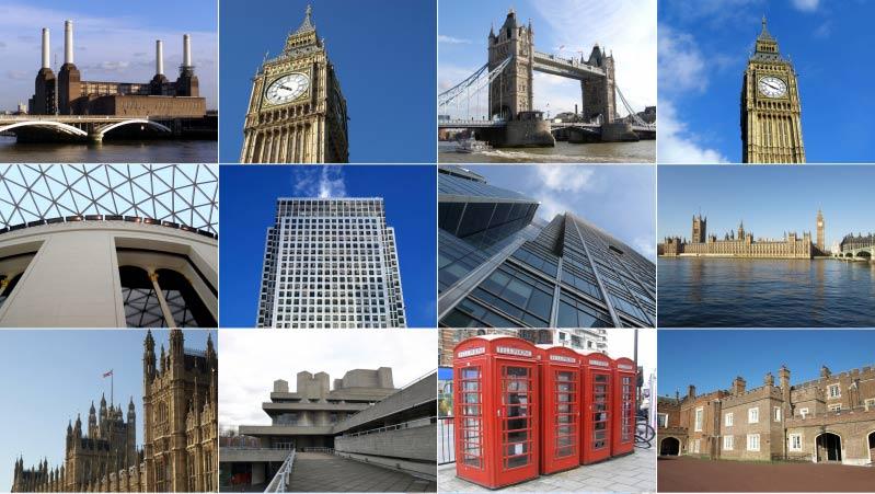 Collage av London